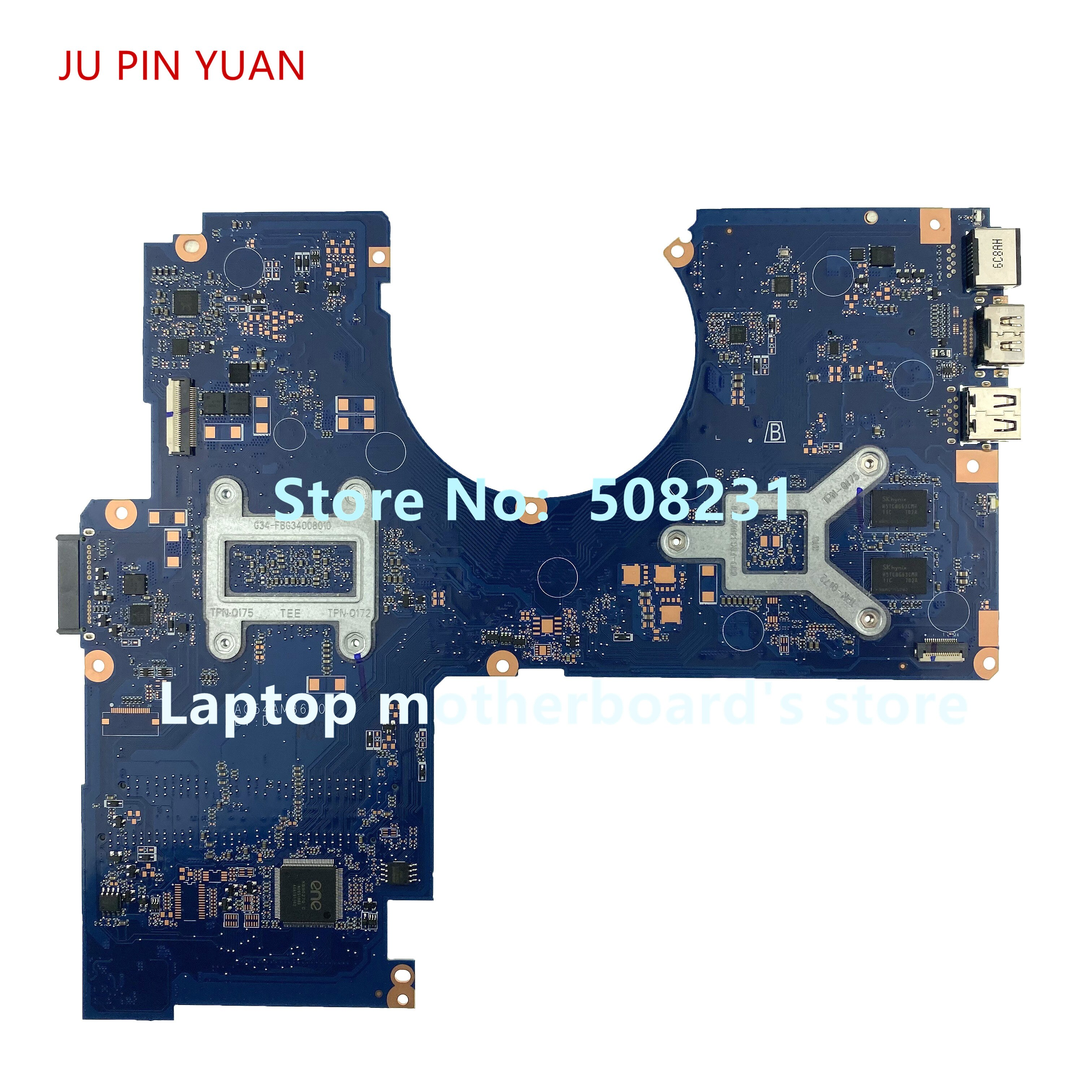 Ju pin Yuan placa base para portátil HP 15-AW 15-AU placa base 856272-001 856272-501, 856272-601 DAG54AMB6D0 100% totalmente