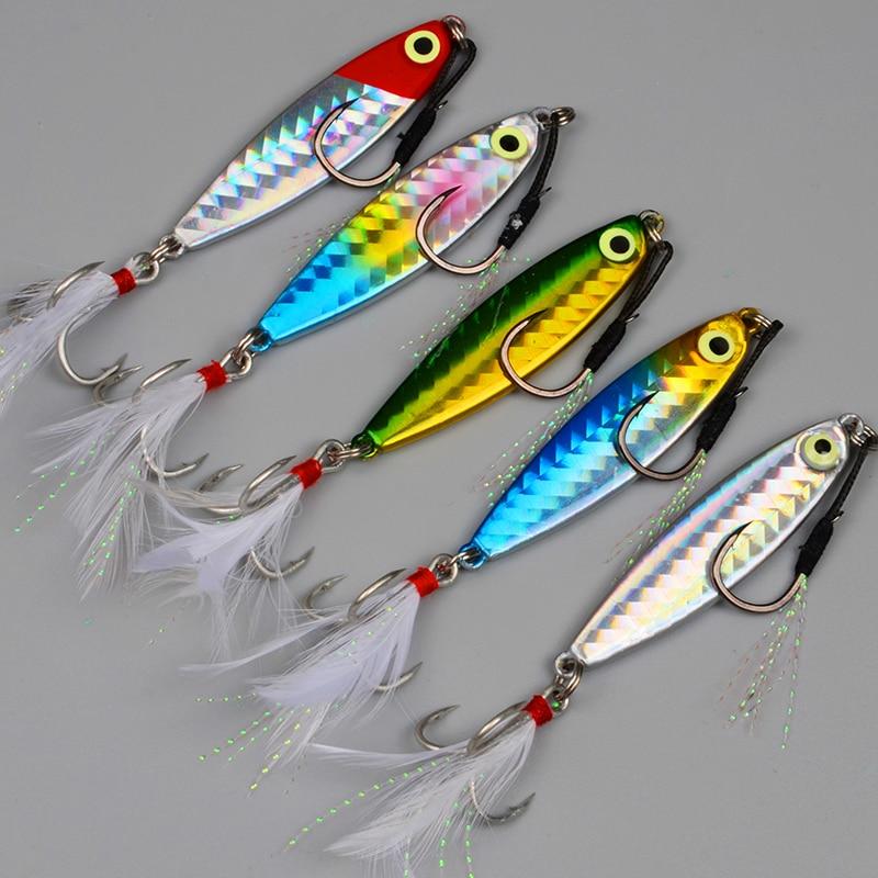 Anzuelo de pesca Jigging de agua salada, aparejos de pesca Wobblers, cebo...