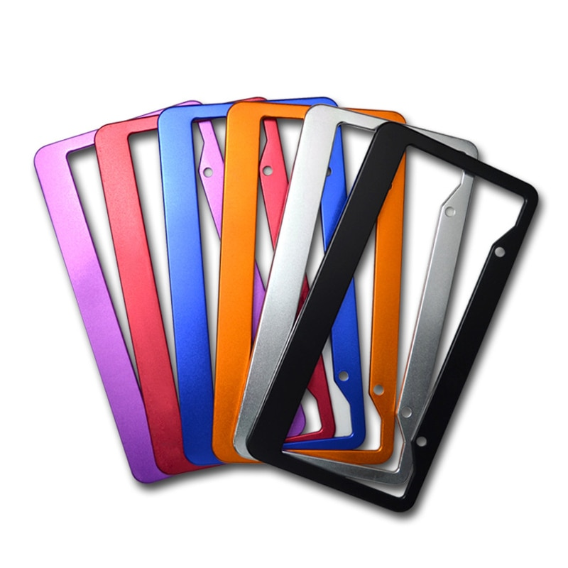 Universal Car License Plate Frame Car Holder Aluminum Alloy Number Plate Bracket Automotive Accessory Waterproof Durable