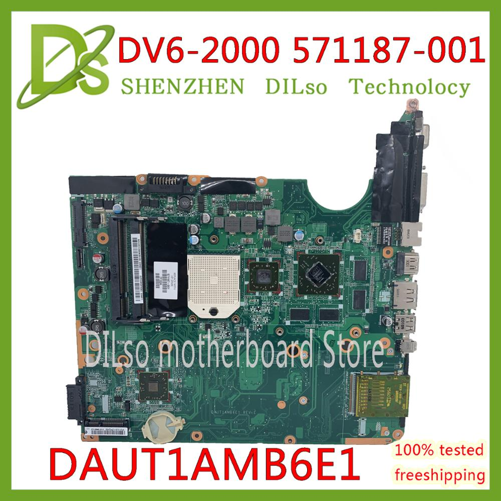 KEFU DV6-2000 اللوحات الأم 571187-001 ل Hp بافيليون DV6 DV6-2000 HM65 DAUT1AMB6E1 HD 4650 1 جيجابايت 100% الأصلي اختبار اللوحة الأم
