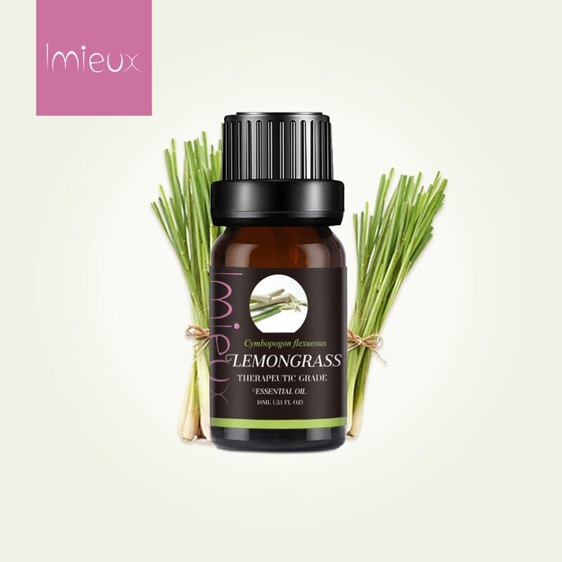 Imieux 10ml Lemongrass Essential Oils For Oil Diffuser Humidifier Aromatherapy Lamp Air Fresh Massag