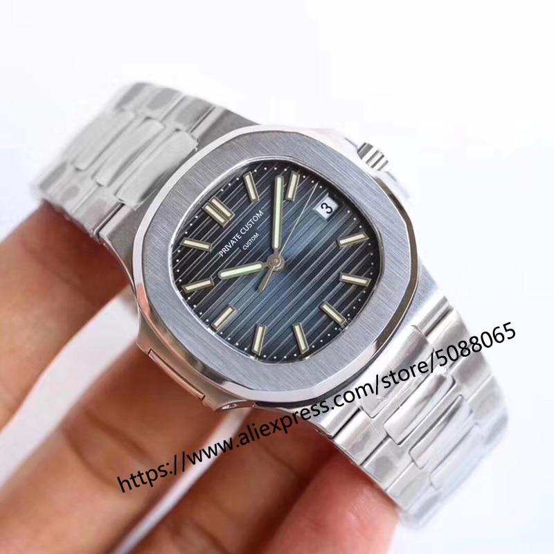 Envío Gratis, reloj automático para hombre, reloj mecánico, reloj de pulsera de acero, esfera negra, caja de acero inoxidable, pulsera de acero a1