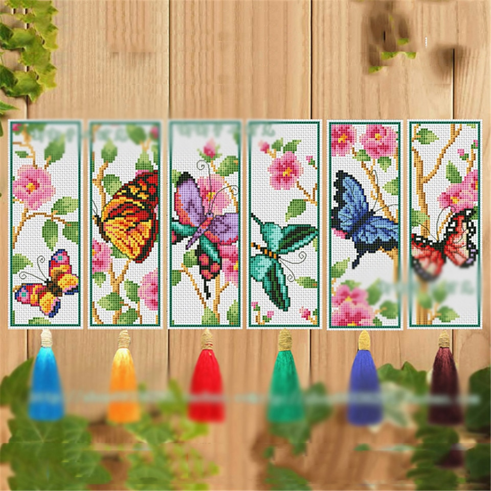Mais vendido 051 diy ponto cruz bookmark natal tecido de plástico bordado bordado artesanato contado kit de costura cruzada
