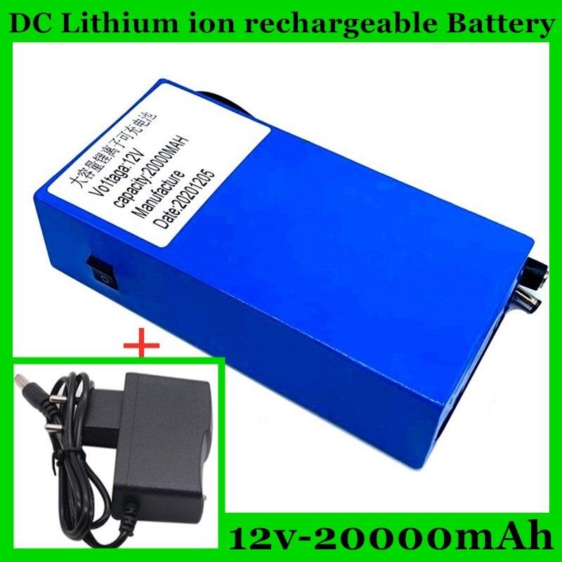 تيار مستمر 122 فولت 20000 مللي أمبير ، بطارية ليثيوم قابلة للشحن حزمة 12.6 فولت 20 أمبير كاشف الأشعة تحت الحمراء اللاسلكية + شاحن