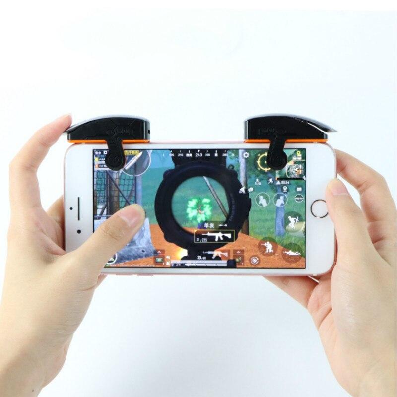 Handjoy mais recente atualização de metal jogo gatilho botão móvel smartphone joystick jogo l1 + r1 shooter controlador frete grátis