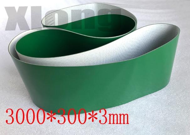 Perímetro 3000 ancho 300mm grosor 3mm cinta Industrial cinta de transmisión cinta transportadora cinta de PVC (otras tallas por favor contacte)