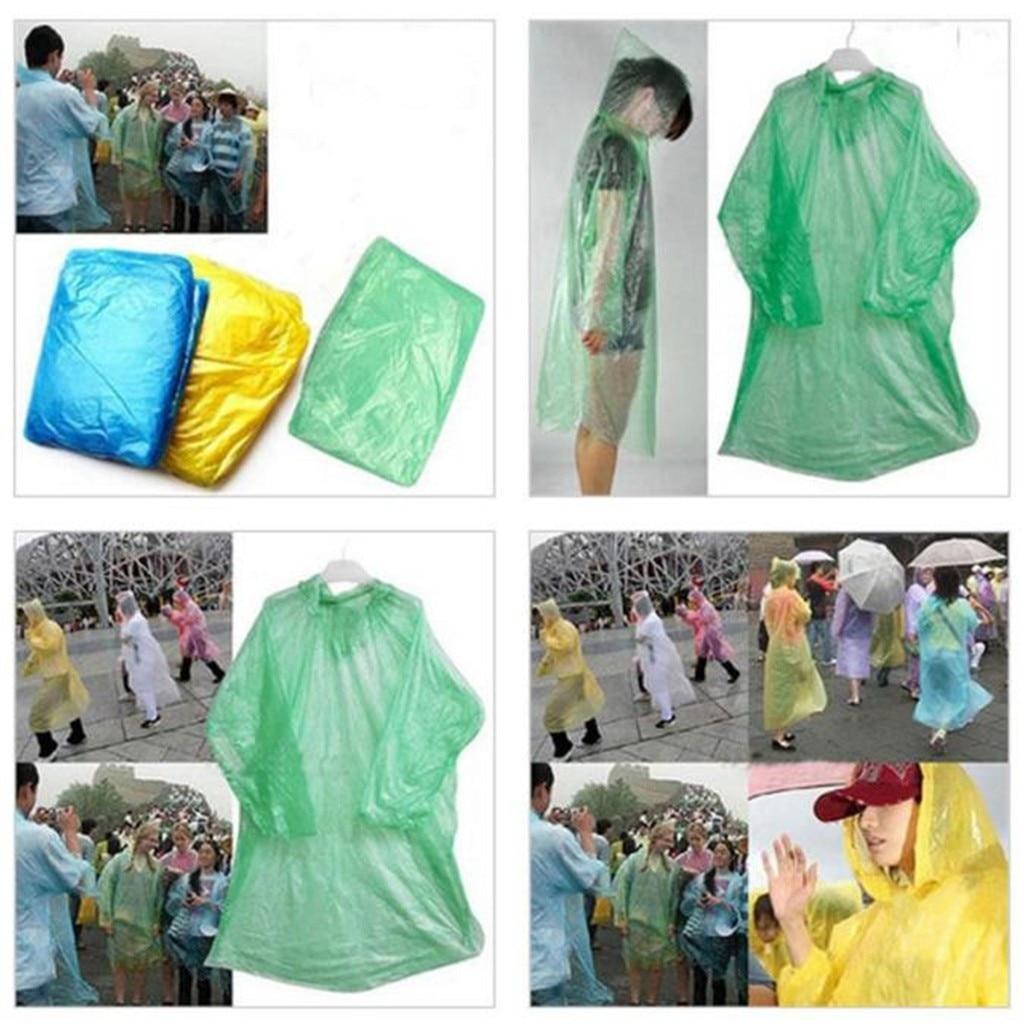 Impermeable de emergencia desechable para adultos, impermeable, para senderismo, cámping, capucha, impermeable, piloto de lluvia largo, impermeable, 20JULY14