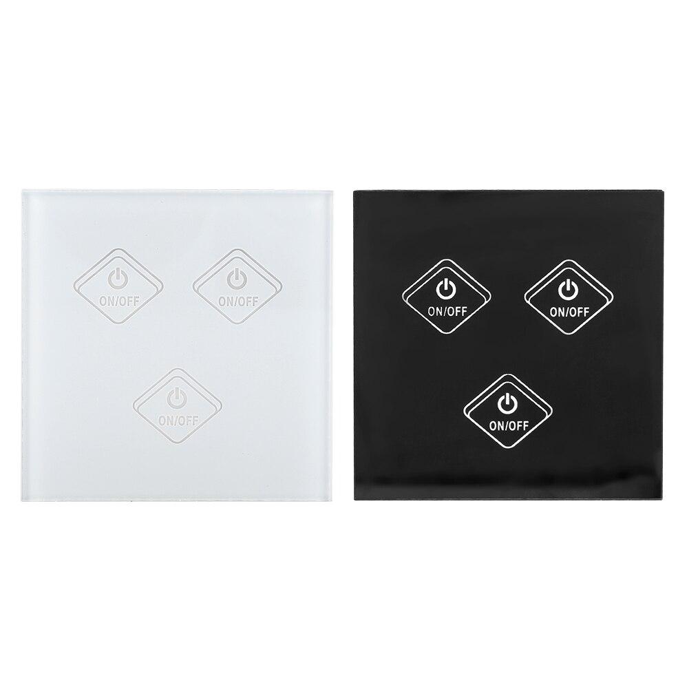 الذكية RF مسة خفيفة التبديل جدار الموقت اللاسلكية اللمس الذكية التبديل لوحة دعم ل اليكسا جوجل المنزل AC90-250V App التحكم