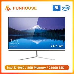 Funhouse 23,8 дюймовый офисный Рабочий стол все-в-одном ПК/1080P Intel Core I7 4960 8G RAM 256G SSD ROM Intel HD графика офисный компьютер ПК