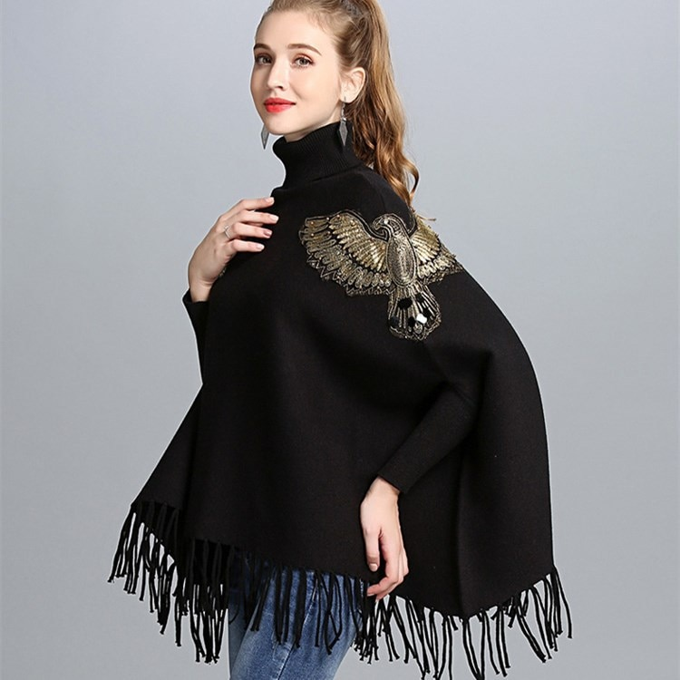 Lady wool Sweater Fashion medium long Cashmere Cardigan Women loose sweater for female outerwear coat with pockets enlarge