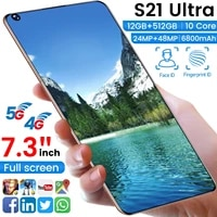 galay s21 ultra smartphone 6800mah 4g 5g 16mp32mp 12gb512gb smartphone android global version 7 3 inch mobile phones