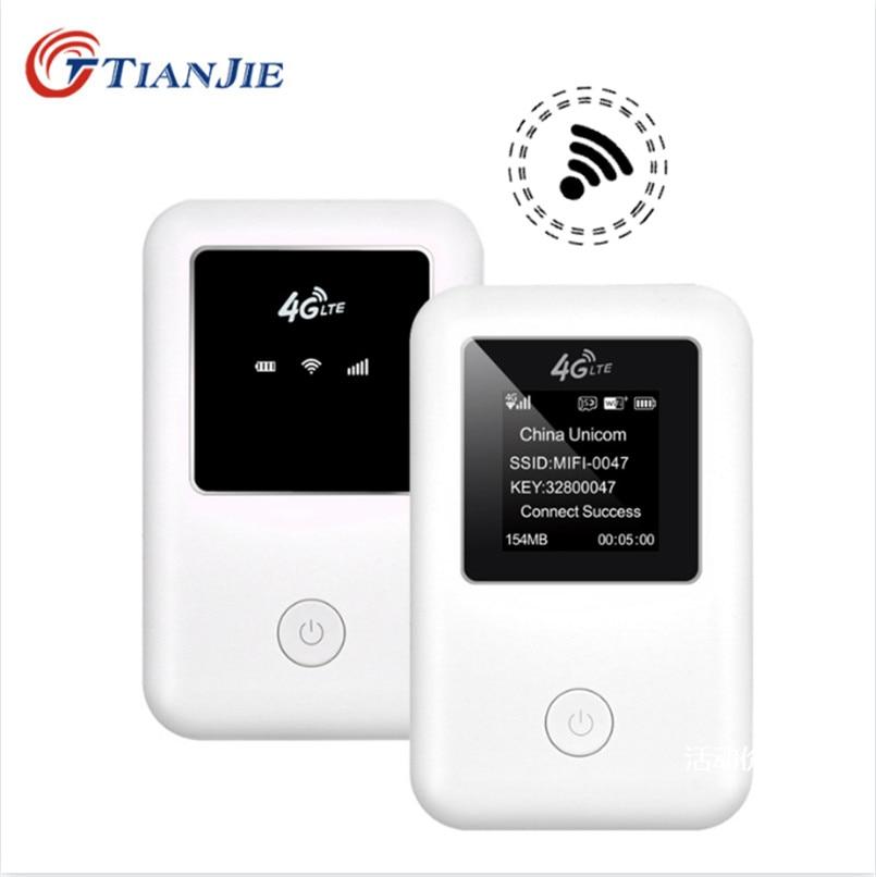 TIANJIE 3G 4G mifi router de alta velocidad wifi desbloqueado router de módem GSM, UMTS WCDMA LTE FDD TDD tarjeta sim para coche wifi bolsillo 4G Hotspot