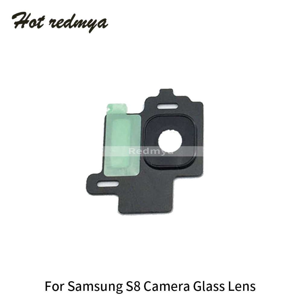 100pcs For Samsung Galaxy S8 G950 S8 Plus G955 Rear Back Camera Glass Lens Cover with Frame Holder Replacement Repair Parts enlarge