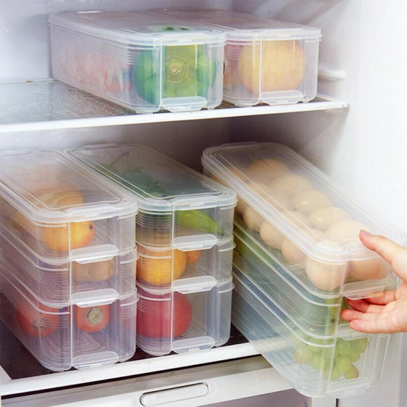 Storage Box 2019 Fashion New Drinks Storage Box Can Egg Fridge Food Vegetable Fruit Clear Organizer Holder