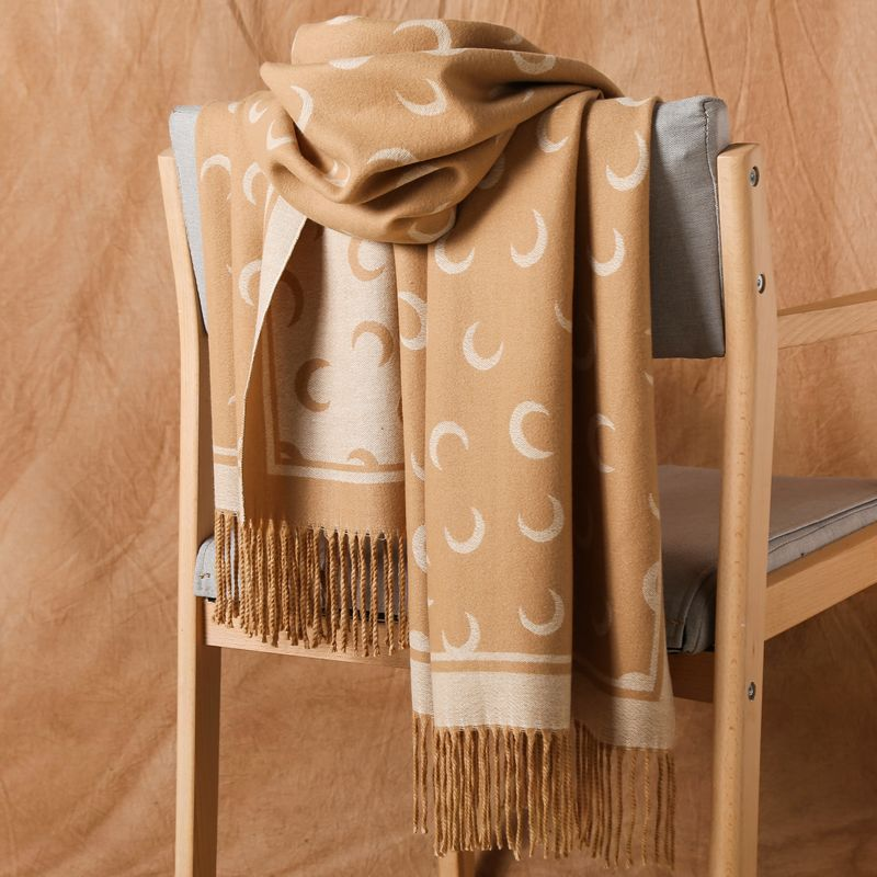 Bufanda de lana de Cachemira Reversible de invierno cálido grueso fino chales con flecos de gran tamaño de Teavel chal de moda bufandas