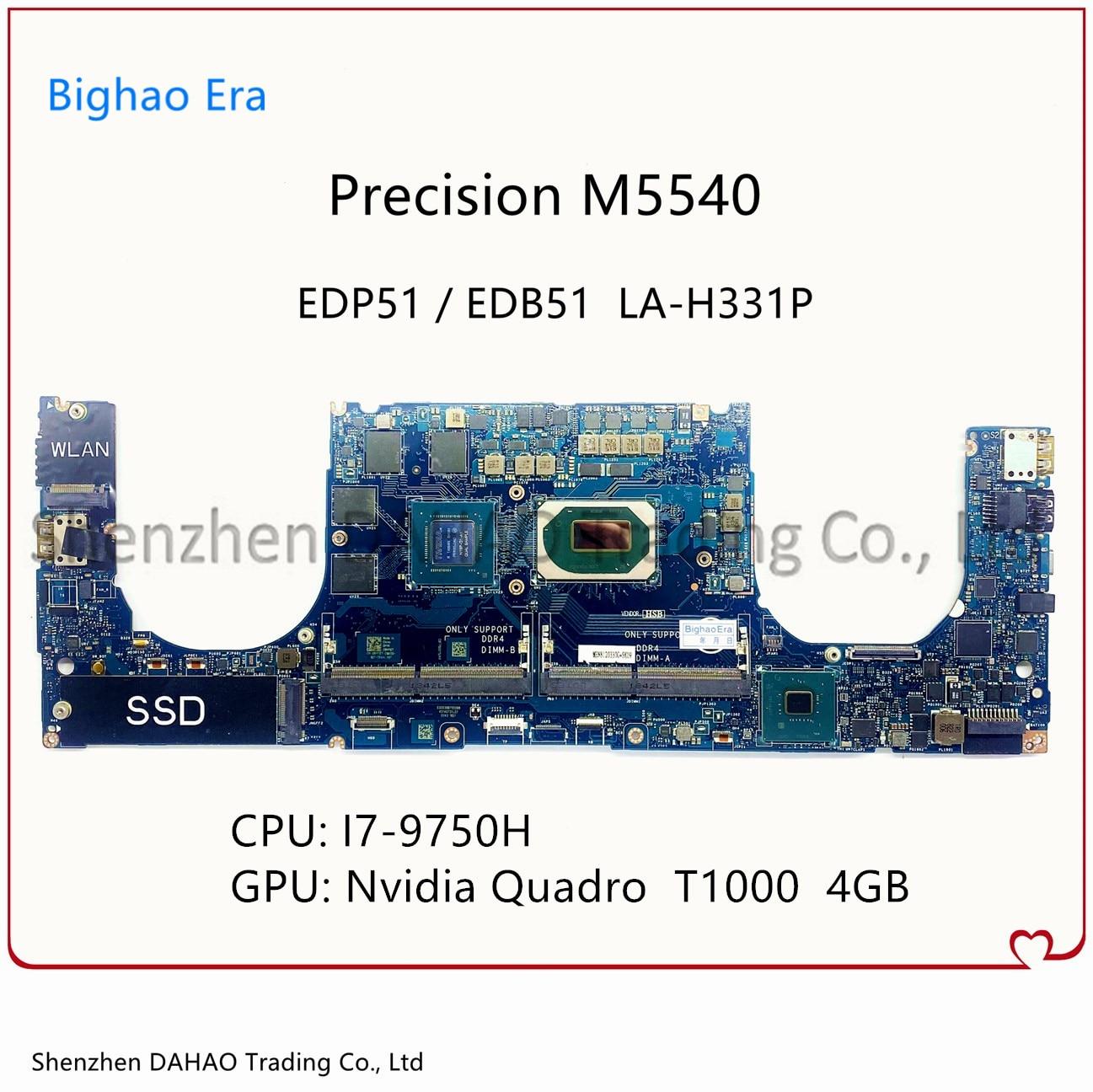 CN-0GCN0K 0GCN0K لديل الدقة 5540 M5540 اللوحة المحمول EDP51 EDB51 LA-H331P مع i7-9750H T1000 4G-GPU 100% اختبار كامل