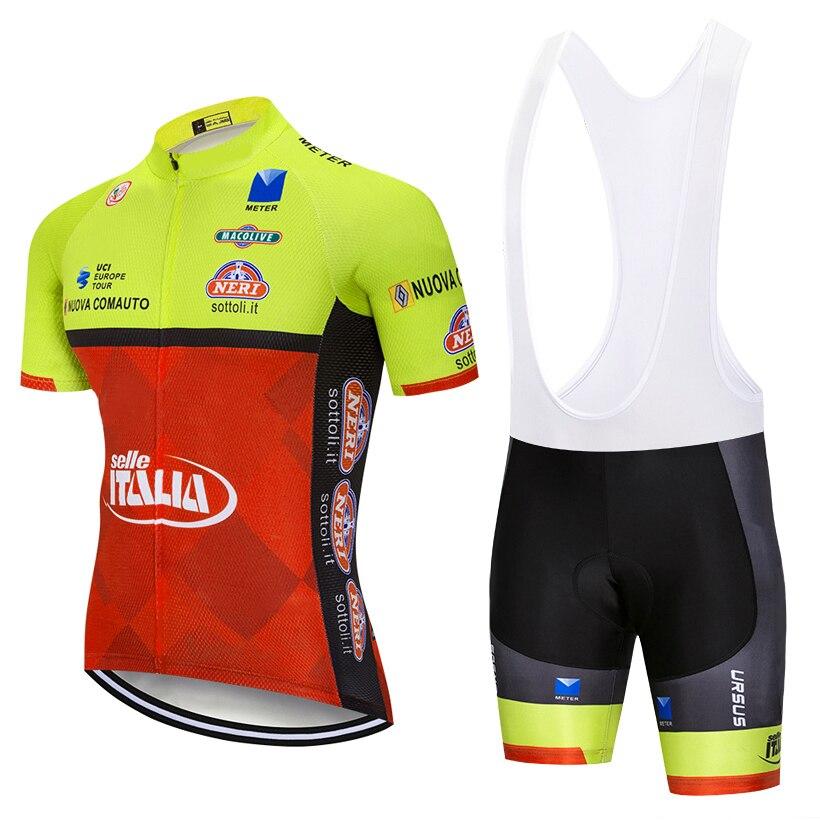 Gran oferta Nueva Italia bicicleta Ciclismo bicicleta Jersey Culote manga transpirable MTB...