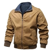 little rain cotton reversible man jacket spring autumn winter male embriodery military bomber men two side wear outdoor tops