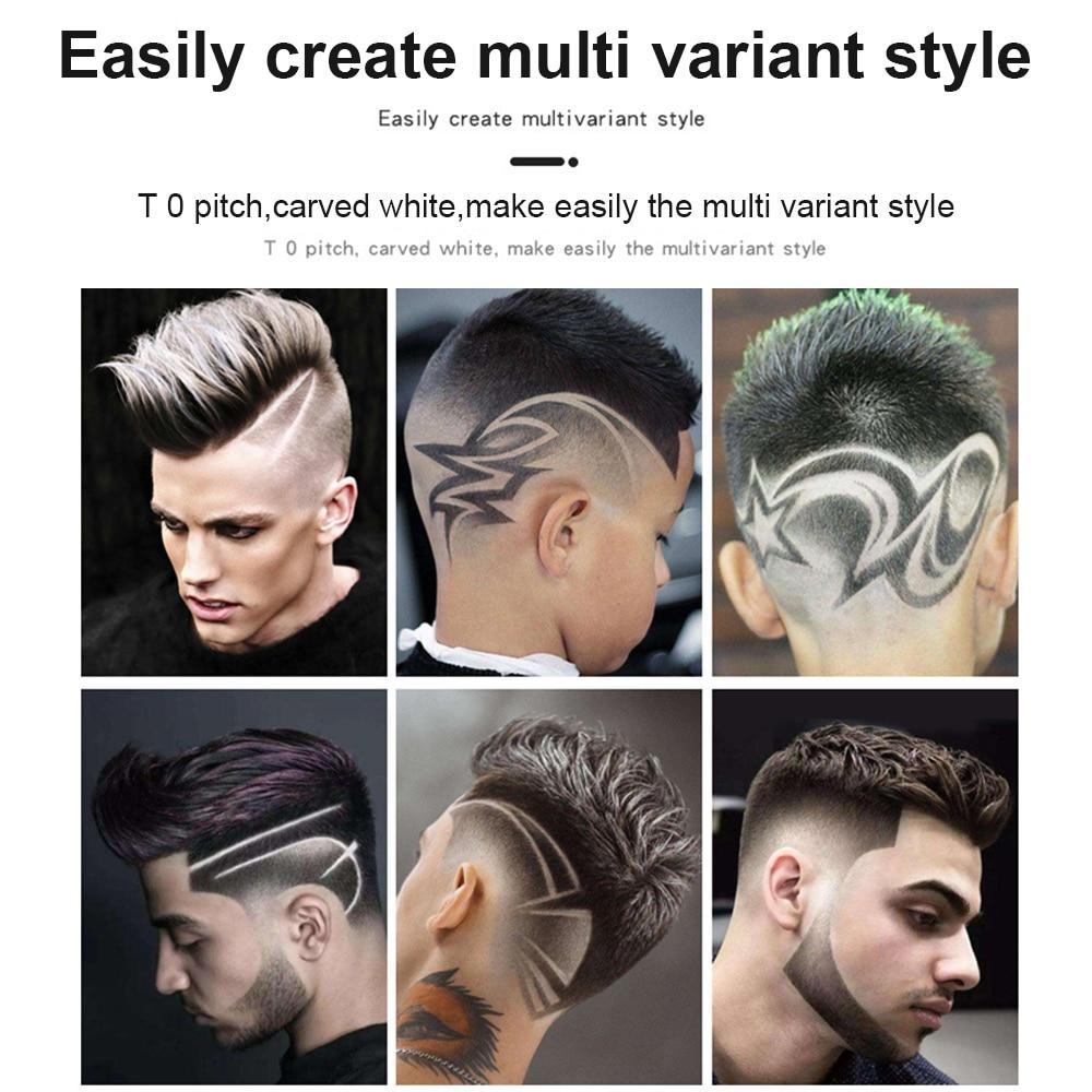 T Bald Head Hair Clipper Mower Rechargeable Trimmer T-Outliner Barber Shaving Machine Vintage Cordless Haircut Men Cutter Shaver