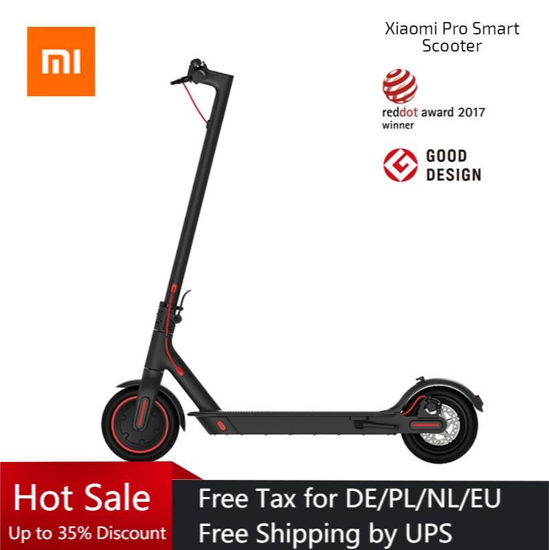 Original Xiaomi Scooter Eléctrico Pro inteligente E Scooter monopatín plegable Hoverboard Patinete Electrico 45km APP. De batería Control