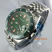 new 40mm Bliger Top Luminous luxury Sapphire Glass green dial ceramic bezel Sapphire date MIYOTA automatic men's Watch