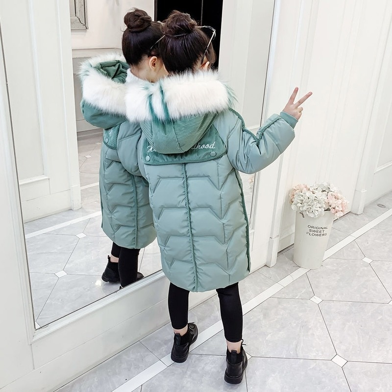 Girls Winter Jacket 2020 New Korean Version of Children Fashion Thick Padded Coats Long Winter Jacket Clothes for Girls 12 Years enlarge