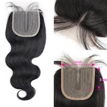 MOGUL HAIR-Peluca de cabello humano ondulado, accesorio con cierre de encaje, parte media del cuerpo, Color Natural, marrón oscuro, 2 colores, 4, marrón, Remy, 1 unidad