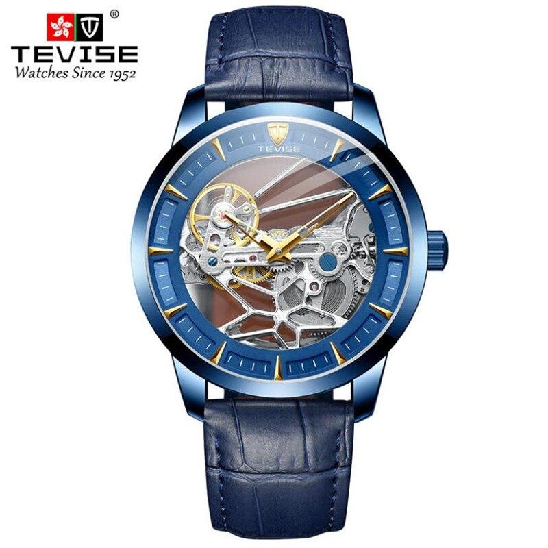 Watch Men Brand Mechanical Watch Leather  Automatic Stylish Classic Skeleton Steampunk Wristwatch re