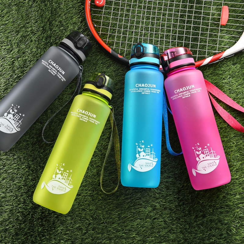 Sports Cup Couple Water Cup Plastic Portable Drink BPA Free Tarvel Outdoor Water Bottle Juice Milk P