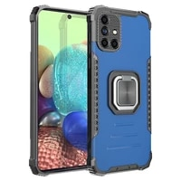 luxury anti fall armor phone case for samsung galaxy a71 a72 a51 a52 a32 a31 a41 a21 a12 4g 5g with ring magnetic bracket cover