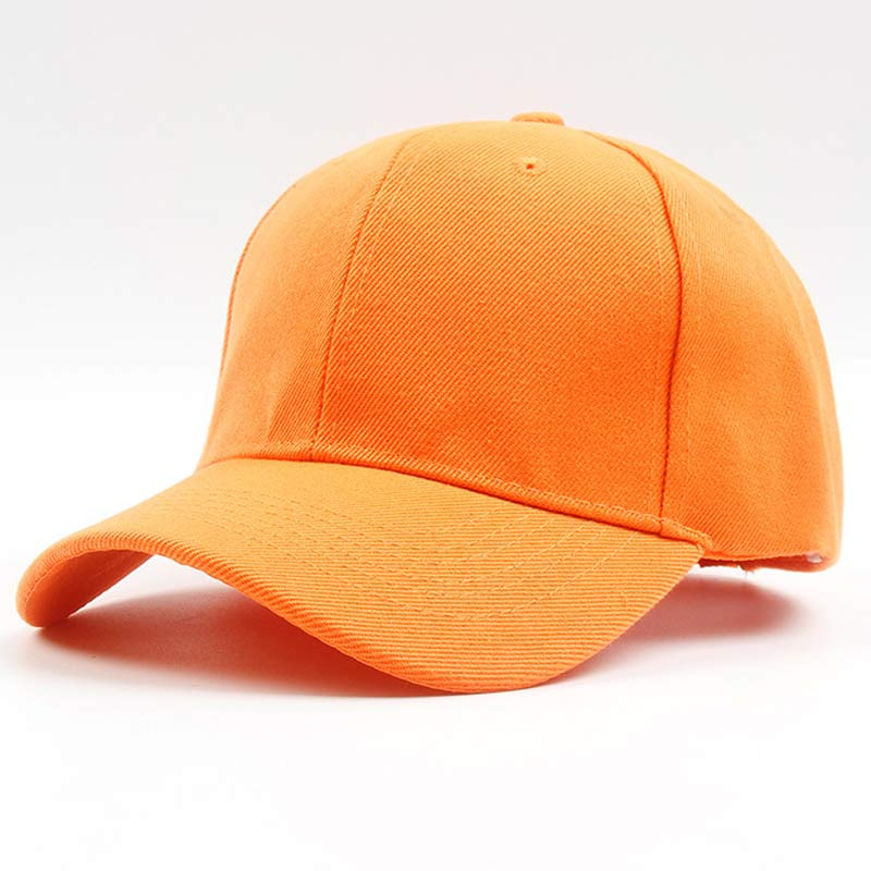 Men Women 6 Panel Plain Baseball Cap Adjustable Solid Twill Hats Orange Red Blue Black Grey Brown