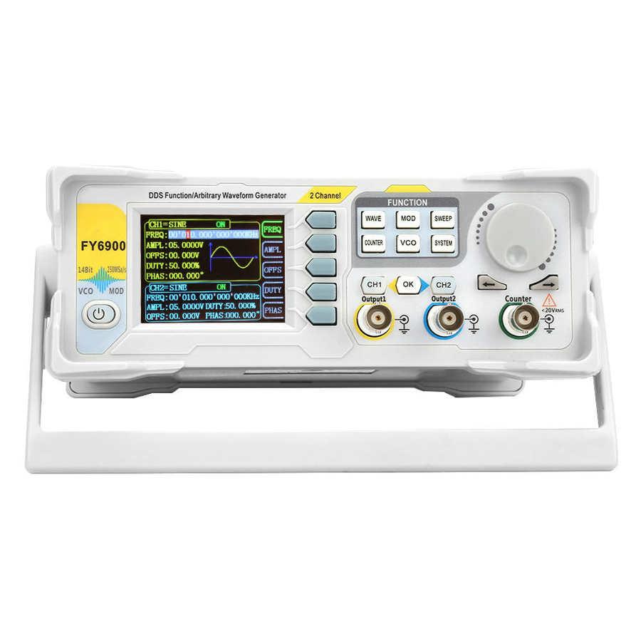 FY6900-60M 60MHz Multi-Funcional De Gerador De Sinal Digital Contador do Medidor de Freqüência DA UE/EUA Plug