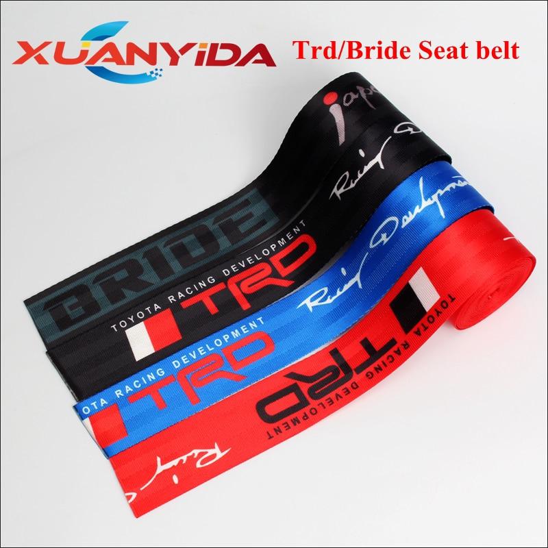 Xuanyida 5 метров рулон TRD ремень безопасности тканевый ремень безопасности для гоночного автомобиля ремни безопасности ремни для рюкзака 4,7 ширина
