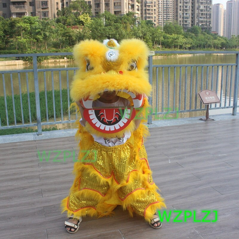 14inch Lion Dance Costume  Royal Suit  5-12 Age kid Children Toy Party Performance Sport Outdoor Festival Parade Stage Mascot