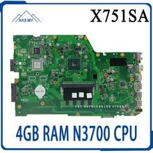 X751SA Laptop motherboard 4GB RAM N3700 CPU für For Asus X751S X751SJ X751SV Test mainboard X751SA motherboard test 100% ok