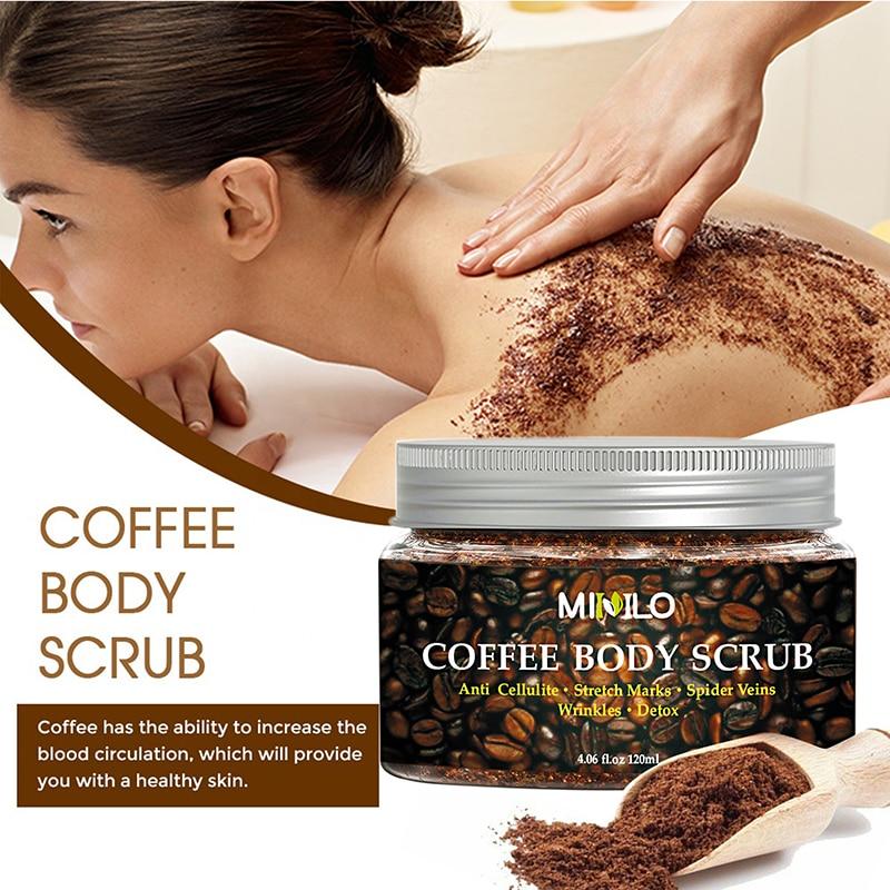 Crema Exfoliante Corporal para café, crema Exfoliante Facial para exfoliar y blanquear,...