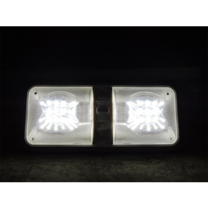 5 Pack RV LED 12v Ceiling Fixtupe Double Dome Light Reading Lamp for Car/RV/Trailer/Camper/Boat Natural White 4000-4500K enlarge