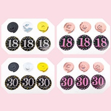 PVC Hintergrund Layout Multifunktions 18 21 30 40 50 60 70 Jahre Alt Spirale Hängen Ornamente Party Supplies 6PCS