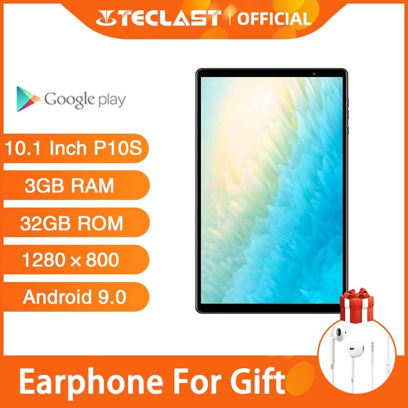 Tabuletas pc teclast p10s 4g chamada tablet android 9.0 sc9863a octa núcleo a55 10.1 polegada 3gb ram 32gb rom câmera dupla gps wifi 6000mah