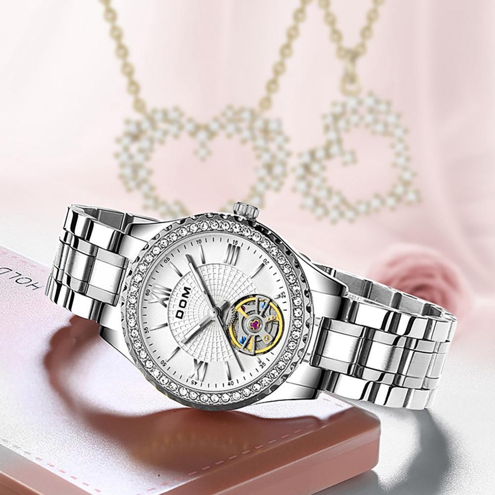 DOM automatic mechanical watch  business  female watch men's watch couple watch luminous  sports waterproof stainless steel enlarge