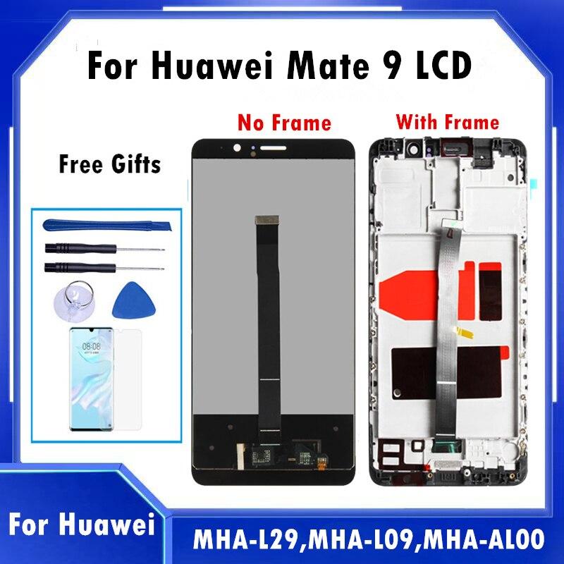 100% اختبار 5.9 ''LCD لهواوي زميله 9 MHA-L09 MHA-L23 MHA-L29 كامل LCD استبدال ل Mate9 اللمس شاشة محول الأرقام Assemly