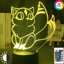 Leuke Kirara Figuur Led Night Lamp Voor Slaapkamer Decoratie Led Touch Sensor Kleurrijke 3d Nachtlampje Unieke Anime Inuyasha Gift