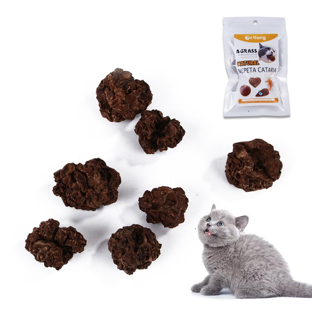 Pet Catnip Toys Edible Catnip Ball Safety Healthy Cat Mint Cats Home Pet Treat Snack Food Toy Balls Pet Supply Protect Stomach