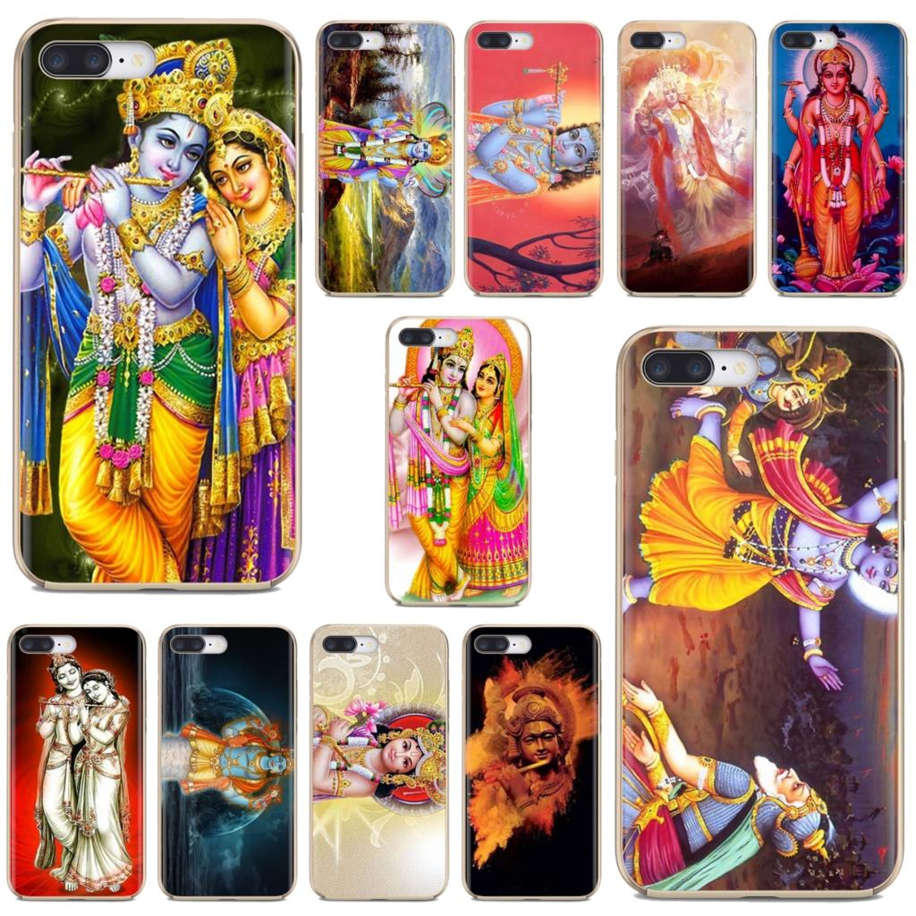 Para iPhone 11 Pro 4 4S 5 5S SE 5C 6 6S 7 7 8X10 XR XS Plus Max para iPod Touch fundas blandas Vintage Krishna avatares dios hindú