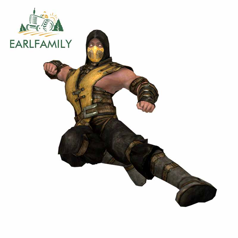 EARLFAMILY, 13cm x 12,5 cm para Mortal Kombat, pegatinas de parachoques para coche, pegatinas de protección solar, decoración de Material de vinilo con diseño solar para coche