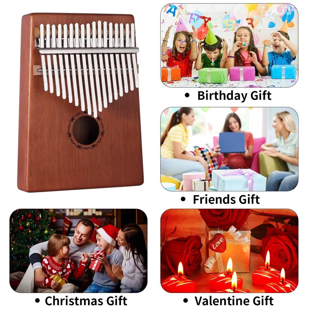 Kalimba Finger Piano Acrylic Kalimba 17 Key Transparent Thumb Piano Mbira Sanza With Tuner Kalimba Case Manual Christmas Gift enlarge