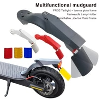 electric scooter rear fender pro2 taillight kit tire mudguard with adjustable license plate holder for xiaomi m365propro2