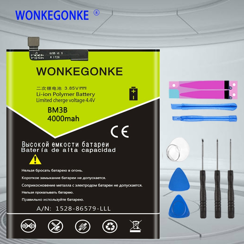 """Batería WONKEGONKE BM3B de buena calidad para xiaomi mi MIX 2 II 5,99 """"mi X2 mi X2S baterías de teléfono móvil Bateria"""