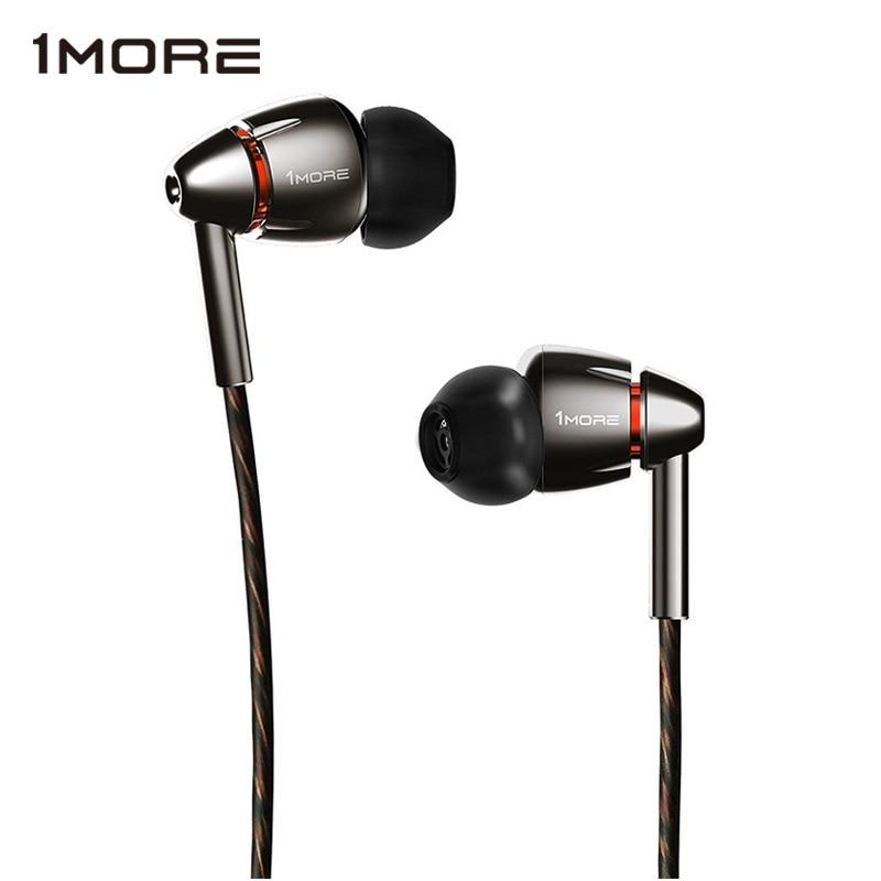 1MORE-سماعات أذن E1010 ، سماعات داخل الأذن ، متوافقة مع Apple iOS و Android ، ميكروفون وجهاز تحكم عن بعد ، تيتانيوم