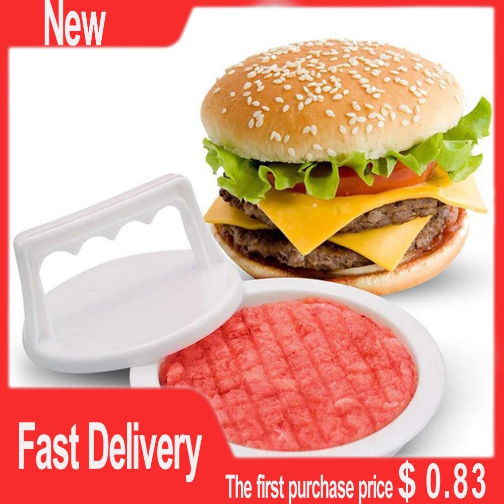New Kitchen Hamburger Meat Beef Maker Grill Burger Patty Mould Press Mold Tools Shape Hamburg Manual Press Mold Kitchen Tools недорого